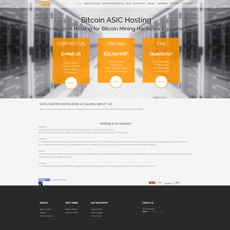 Bitcoin ASIC Hosting Website & Digital Marketing
