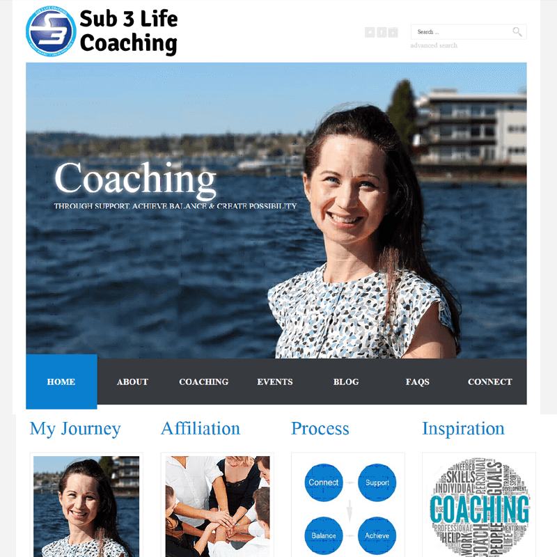 Sub 3 Life Coaching - We created Website, Social Media and Branding Services